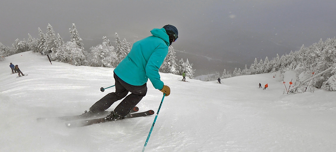 2022 Rossignol Experience 86 Ti Ski Review: Full Width Action Image 2